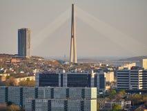Владивосток, Россия, 05 03 2019 Взгляд русского моста стоковые изображения