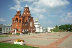 ВЛАДИМИР, РОССИЯ - 17-ое июля 2016: Золотые стробы vladimir Стоковое Фото