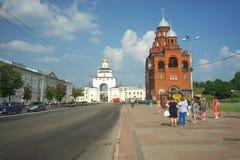 ВЛАДИМИР, РОССИЯ - 17-ое июля 2016: Золотые стробы vladimir Стоковая Фотография RF