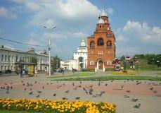 ВЛАДИМИР, РОССИЯ - 17-ое июля 2016: Золотые стробы vladimir Стоковое Изображение