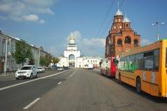 ВЛАДИМИР, РОССИЯ - 17-ое июля 2016: Золотые стробы vladimir Стоковые Фотографии RF