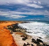 влажный песок пляжа Стоковое Фото
