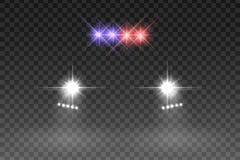 Влияние автомобиля светлое внезапное иллюстрация штока