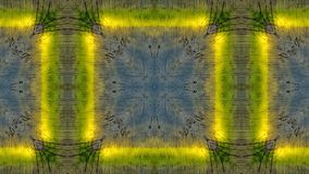 Влияние зеркала на голубой деревянной доске с желтыми линиями иллюстрация вектора