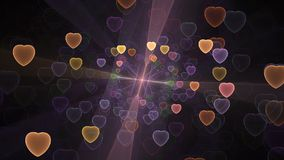 Влияние сердец Bokeh Стоковое Фото