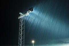 Влияние снега в ноче стоковые изображения