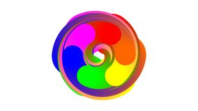 Влияние 6 цветов закручивая Стоковое фото RF