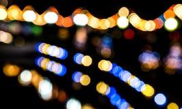 Влияние Bokeh красочных светов Стоковые Изображения