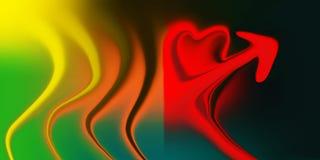 Влияния предпосылки конспекта красочные multicolor затеняемые изогнули иллюстрацию вектора ровного сердца форменную иллюстрация вектора