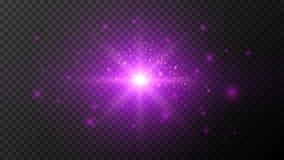 Влияния ультрафиолетового света на темном прозрачном Bg иллюстрация штока