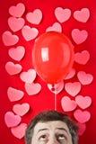 влюбленность воздушного шара Стоковое Изображение