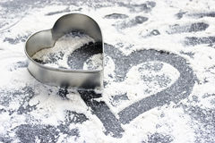 влюбленность выпечки Стоковая Фотография RF