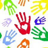 Влюбленность в руке Стоковое Изображение RF