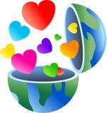 влюбленность глобуса Стоковые Изображения RF