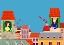 влюбленность города Стоковая Фотография