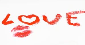 влюбленность губной помады Стоковые Фото
