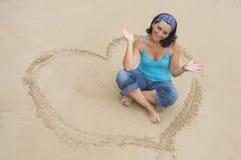 влюбленность девушки счастливая Стоковая Фотография
