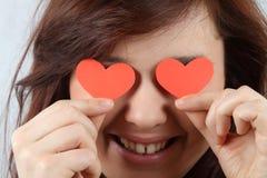 влюбленность девушки Стоковые Фото