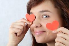 влюбленность девушки Стоковое фото RF