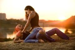 влюбленность джинсыов Стоковые Фотографии RF