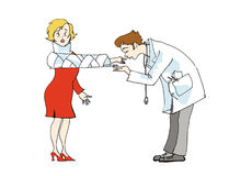 влюбленность доктора Бесплатная Иллюстрация