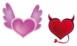 влюбленность дьявола ангела Стоковые Фото