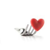 влюбленность еды Стоковое Изображение RF