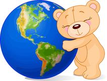 влюбленность земли медведя Стоковая Фотография RF
