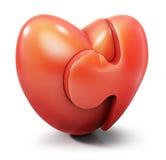 влюбленность зигзага сердца иллюстрация вектора