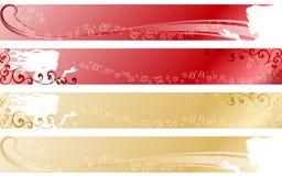 влюбленность знамен опирающийся на определённую тему Стоковое фото RF