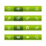 влюбленность икон штанги зеленая Стоковая Фотография RF