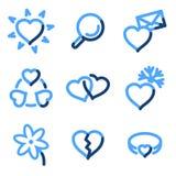 влюбленность икон Стоковое Изображение RF
