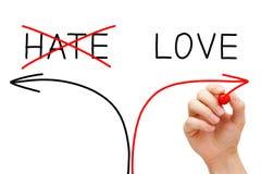 Влюбленность или ненависть Стоковое фото RF