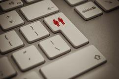 влюбленность интернета Стоковые Изображения