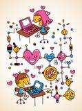 Влюбленность интернета Стоковое Фото