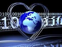 влюбленность интернета Стоковое Изображение