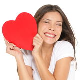 Влюбленность и женщина дня Валентайн Стоковая Фотография