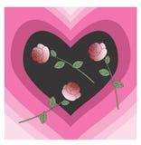 Влюбленность и розы Стоковая Фотография