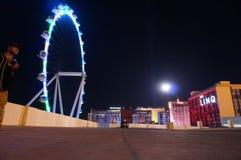 Влюбленность и свет Лас-Вегас стоковые изображения rf