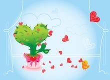 влюбленность кактуса Стоковое Изображение