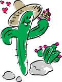 влюбленность кактуса Иллюстрация вектора