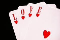 влюбленность карточек Стоковые Изображения