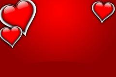 ВЛЮБЛЕННОСТЬ карточки валентинки Стоковое Изображение RF