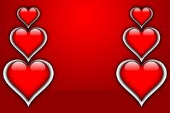 ВЛЮБЛЕННОСТЬ карточки валентинки Стоковая Фотография RF