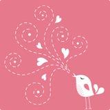 влюбленность карточки птицы Стоковая Фотография RF