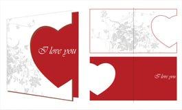 влюбленность карточки Иллюстрация штока