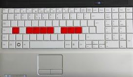влюбленность клавиатуры i вы Стоковая Фотография RF