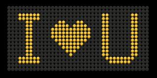 влюбленность кнопки i доски формулирует желтый цвет вы Стоковое Изображение RF