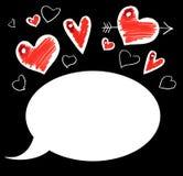 влюбленность комиксов карточки Стоковые Фотографии RF