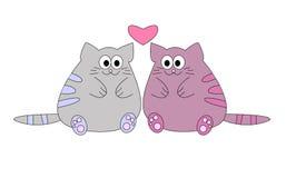 влюбленность котов Стоковая Фотография
